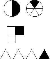 Разделить круг на треть фигур